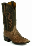 Ladies Black Jack Boots Sueded Python - Brown Boots 690