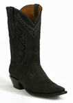 Ladies Black Jack Elephant - Black Sueded Custom Boots 814