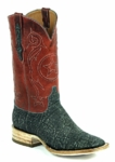 Ladies Black Jack Elephant - Grey Safari Custom Boots 834