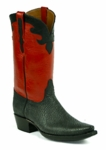 *NEW* Ladies Black Jack Shark - Sanded Black Custom Boots 917