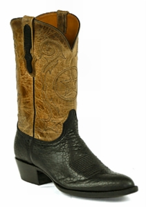 *NEW* Mens Black Jack Bison - Black Custom Boots 931