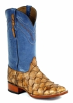 Mens Black Jack Boots Jean Blue - Barnwood Pirarucu Fish 776