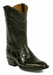 *NEW* Mens Black Jack Boots Wild Alligator Belly-Side Cut Custom Boots 527