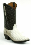 *NEW* Mens Black Jack Caiman Belly Natural Custom Boots 7108