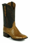 Mens Black Jack Caiman Belly - Pull Up Cognac Custom Boots 7118