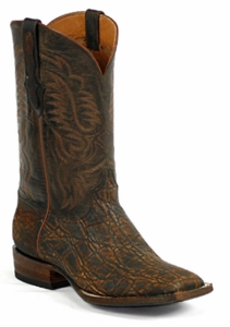 Mens Black Jack Elephant - Antique Safari Cognac Custom Boots 867