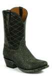 Mens Black Jack Elephant - Grey Safari Custom Boots 833