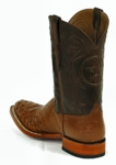 *NEW* Mens Black Jack Full Quill/Smooth Ostrich - Cognac CC Custom Boots 978
