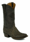 Mens Black Jack Full Quill Ostrich - Mohave Kango Tobac Custom Boots 977