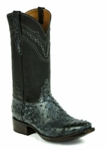 Mens Black Jack Full Quill Ostrich - Rio Grand Black Custom Boots 971