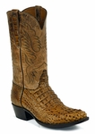*NEW* Mens Black Jack Hornback Caiman - Burnished Pull-Up Cognac Custom Boots 712