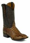 *NEW* Mens Black Jack Hornback Caiman - Glossy Cigar Custom Boots 713