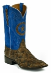 *NEW* Mens Black Jack Pirarucu Fish - Matte Chocolate Custom Boots 724