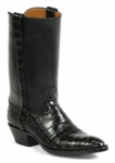 Womens Black Jack American Alligator Belly Black Custom Boots #524BLK