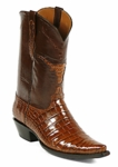 Womens Black Jack American Alligator Belly Cigar Custom Boots #184