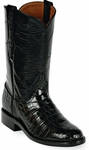 Womens Black Jack Boots Black Alligator Belly Custom Roper Boots 139