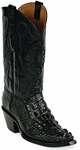 Womens Black Jack Boots Black Hornback Alligator Custom Boots 111