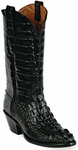 Womens  Black Jack Boots Black Hornback Alligator Custom Boots 130
