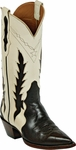 Womens Black Jack Boots Brown & Bone Leather Triad Custom Boots 1408