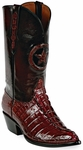 Womens Black Jack Boots Burgundy Alligator Tail Custom Boots 185