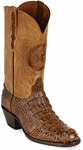 Womens Black Jack Boots Burnished Cigar Hornback Alligator Custom Boots 180