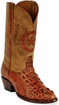 Womens  Black Jack Boots Burnished Cognac Hornback Alligator Custom Boots 180