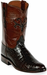 Womens Black Jack Boots Chocolate Alligator Belly Custom Roper Boots 198