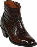 Womens Black Jack Boots Chocolate Alligator Belly Custom Zipper Boots 143