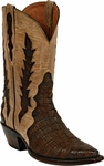 Womens Black Jack Boots Chocolate Sueded Caiman Belly Triad Custom Boots 1412