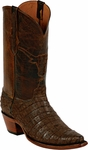Womens Black Jack Boots Chocolate Sueded Caiman Crocodile Belly Custom Boots 242