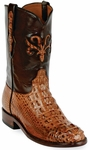Womens Black Jack Boots Cigar Hornback Alligator Custom Roper Boots Montana Inlay 181