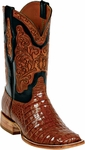 Womens Black Jack Boots Cognac Caiman Crocodile Belly Custom Boots HT-91
