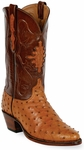 Womens Black Jack Boots Cognac Full Quill Ostrich Custom Boots 211