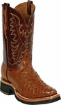Womens Black Jack Boots Cognac Full Quill Ostrich Custom Boots 362