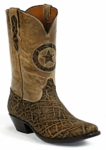 Womens Black Jack Boots Dirty Tobacco Elephant Custom Boots 808
