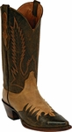 Womens Black Jack Boots Distress Goat Tan & Brown Wingtip Leather Custom Boots 421