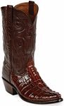 Womens  Black Jack Boots Italian Red Alligator Tail Custom Boots 118