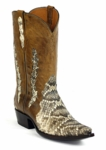Womens Black Jack Boots Natural Eastern Rattle Snake Triad Custom Boots 600