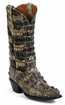 Womens Black Jack Boots Natural Hornback Alligator Custom Boots NT-130