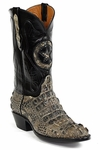 Womens  Black Jack Boots Natural Hornback Alligator Custom Boots NT-180