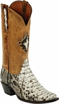 Womens Black Jack Boots Natural Python Snake Custom Boots 606