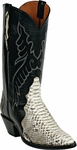 Womens Black Jack Boots Natural Python Triad Custom Boots 604