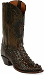 Womens Black Jack Boots Old West Hornback Alligator Custom Boots 111