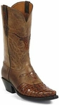 Womens Black Jack Boots Reversed Alligator Tail Burnished Cigar Custom Boots 154