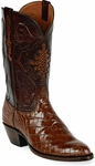 Womens Black Jack Boots Sport Rust Alligator Belly Custom Boots 121