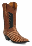 Womens Black Jack Caiman Belly Cognac With Phoenix Inlays Style# 6323