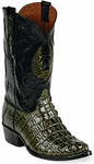 Womens BlackJack Boots Swamp Green Alligator Tail Custom Boots 146