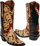 """<font color=""""red"""">*NEW STYLES ADDED*</font> Womens Craftsman Tooled Leather Black Jack Boots - 53 Styles"""