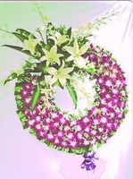 Orchid and Lilies Wreath