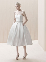 2014 Wedding Dress Trends: Tea Length, Bateau, Light Pink, and Champagne, Darling!